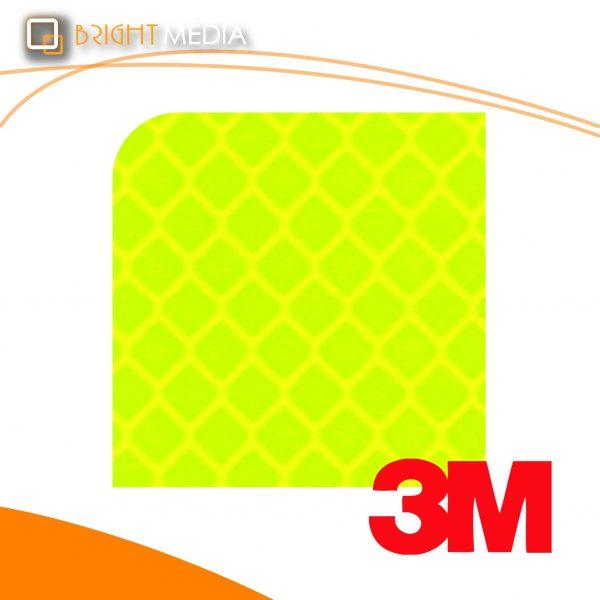 สติ๊กเกอร์สะท้อนแสง-สีพิเศษ สีเขียวเหลืองฟลูออเรสเซนต์