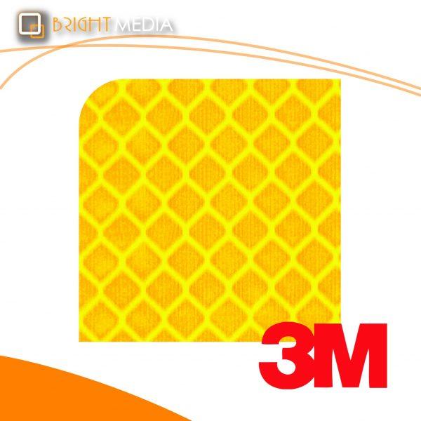 สติ๊กเกอร์สะท้อนแสง-สีพิเศษ สีเหลืองฟลูออเรสเซนต์
