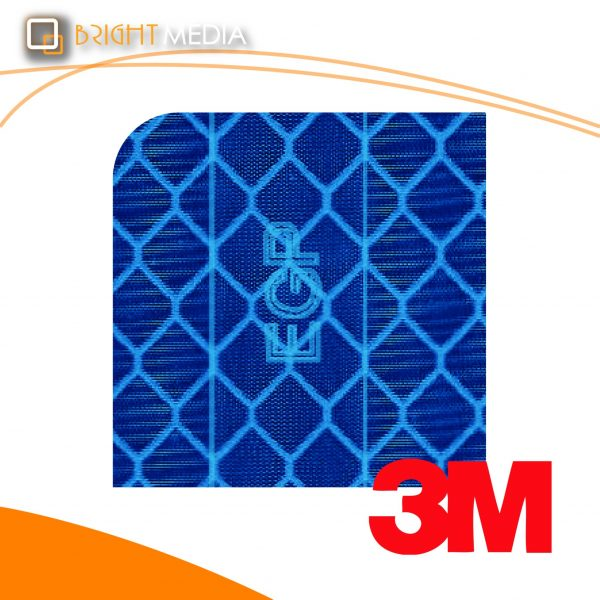 สติ๊กเกอร์สะท้อนแสง เอนจิเนียพริสเมติกเกรด - สีน้ำเงิน